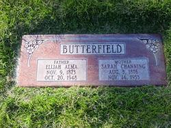 Sarah <I>Channing</I> Butterfield