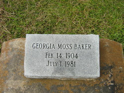 Georgia Moss Baker