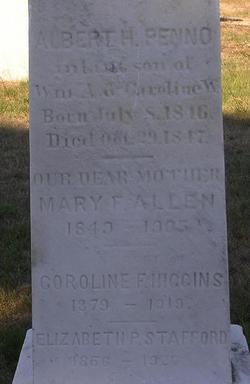 Mary F. <I>Penno</I> Allen