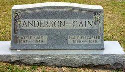 Hattie <I>Cain</I> Anderson
