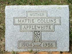 "Martha Rose ""Mattie"" <I>Collins</I> Applewhite"