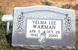 Velma Lee Warnan