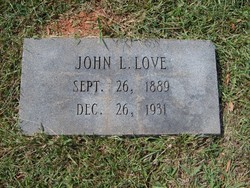 john lee love 1889 1931 find a grave memorial