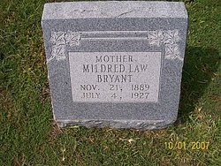 Mildred <I>Law</I> Bryant