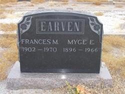 Frances Myrtle <I>Teague</I> Earven