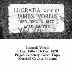Lucretia <I>Jackson</I> Botkin Thompson Voreis