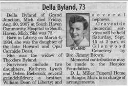 Della <I>Dean</I> Byland