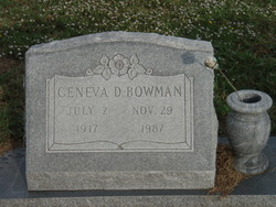 Geneva D. <I>Daugherty</I> Bowman