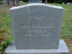 Ada <I>Faulkner</I> Bayless