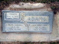 Julia Marie <I>Isaac</I> Adams