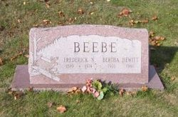 Bertha <I>Hewitt</I> Beebe