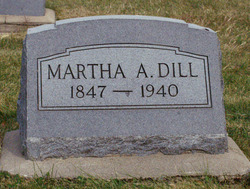 Martha A <I>Mitchell</I> Dill