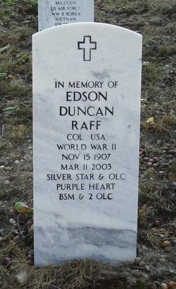 Col Edson Duncan Raff