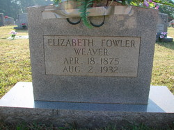 Elizabeth <I>Fowler</I> Weaver