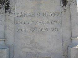 "Sarah Clements ""Sallie"" <I>Hightower</I> Hayes"