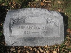 Jane Williams <I>Brokaw</I> Apgar