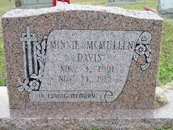 Minnie <I>McMullen</I> Davis