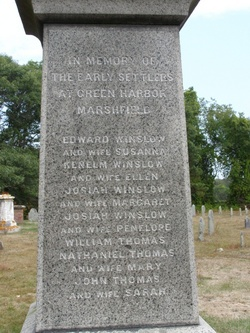 Early Settlers At Green Harbor Monument