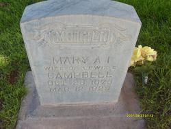 Mary Amelia <I>Isom</I> Campbell