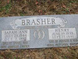 Sarah Ann <I>Crider</I> Brasher