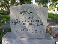 Etta M <I>Benjamin</I> Alexander