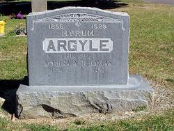 Louisa Aurelia <I>Thomas</I> Argyle