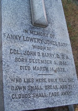 Fanny Lowery <I>Jones</I> Barry