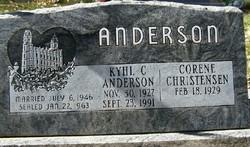 Kyhl C Anderson
