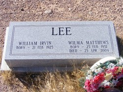 Wilma <I>Matthews</I> Lee