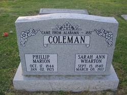 Sarah Ann <I>Wharton</I> Coleman