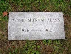 Winnie <I>Sherman</I> Adams