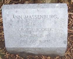 Ann <I>Massenburg</I> Booker