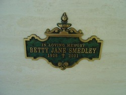 Betty Jane <I>Sitton</I> Smedley
