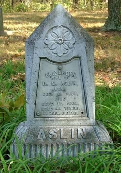Elizabeth C <I>Harper</I> Aslin