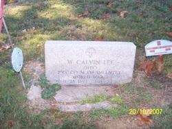 Pvt William Calvin Lee
