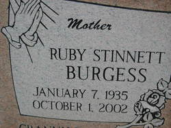 Ruby <I>Stinnett</I> Burgess