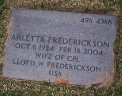 Arletta Frederickson