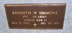 PFC Kenneth W. Simmons