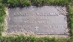 PFC Ernest P. Weideman