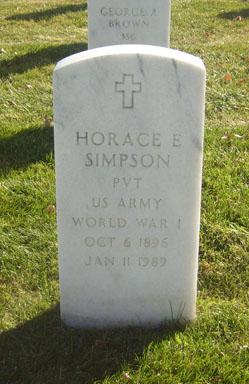 Horace E Simpson