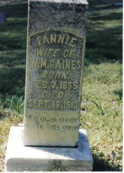 Fannie Elizabeth <I>Cole</I> Gaines