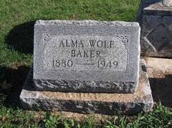 Alma <I>Wolf</I> Baker