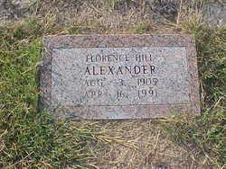 Florence <I>Hill</I> Alexander