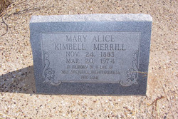 Mary Alice <I>Kimbell</I> Merrill