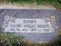 Lillian Emma <I>Haight</I> Brown