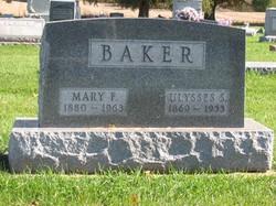 Mary Frances <I>Stephenson</I> Baker