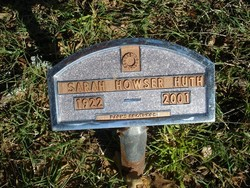 Sarah <I>Pounds</I> Howser Huth