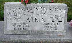 May Augusta <I>Marshall</I> Atkin