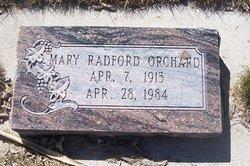 Mary Eudora <I>Radford</I> Orchard