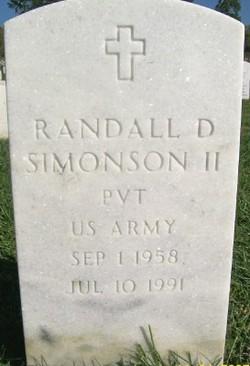 Randall D Simonson, II